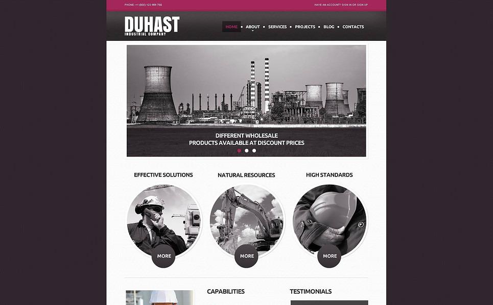 Modèle Flash CMS  pour site industriel  New Screenshots BIG