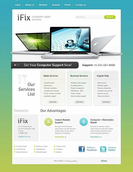 ADOBE Photoshop Template 45991 Home Page Screenshot