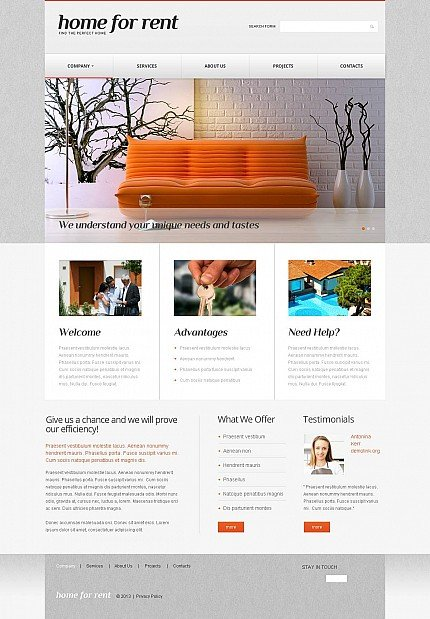 ADOBE Photoshop Template 45992 Home Page Screenshot