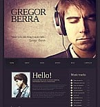 Music Flash CMS  Template 45993
