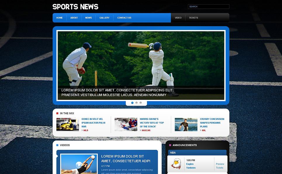 Адаптивний Шаблон сайту на тему спортивні новини New Screenshots BIG