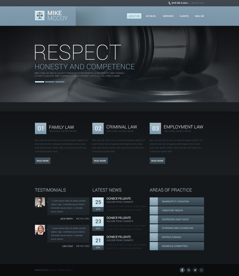 Atmospheric Law Firm Drupal Template New Screenshots BIG