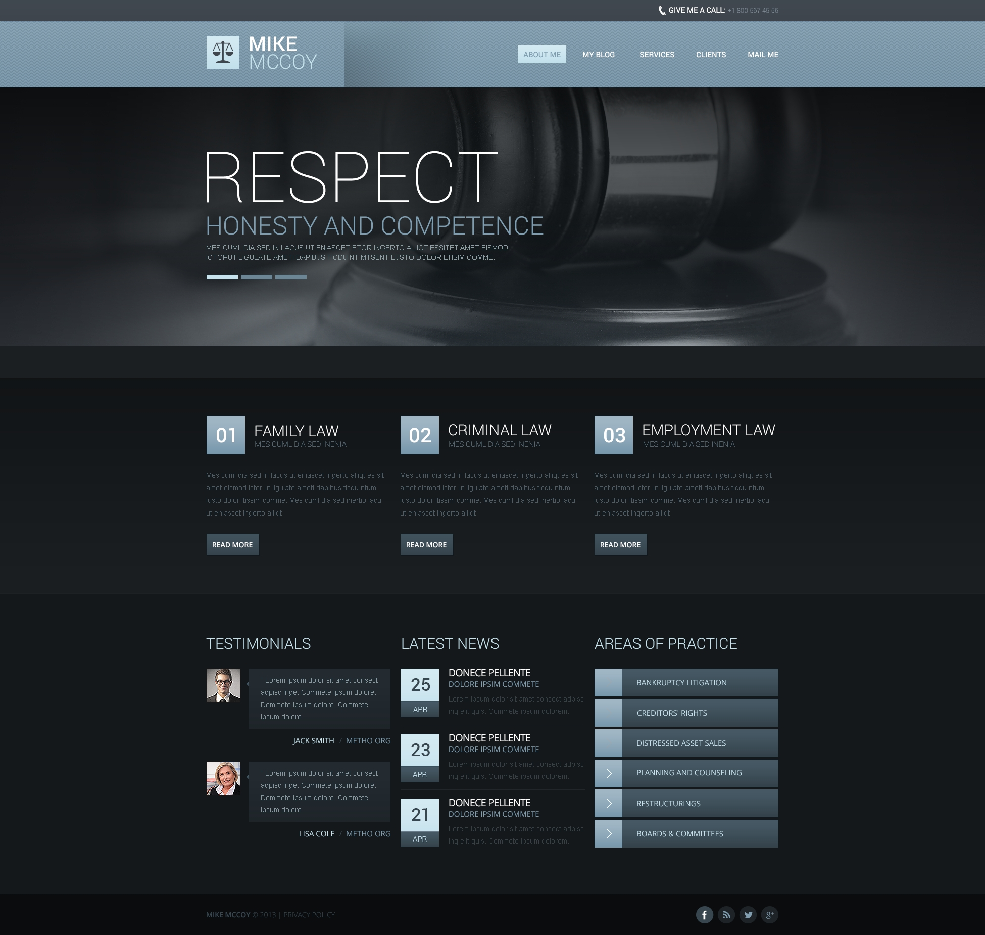 Atmospheric Law Firm Drupal Template