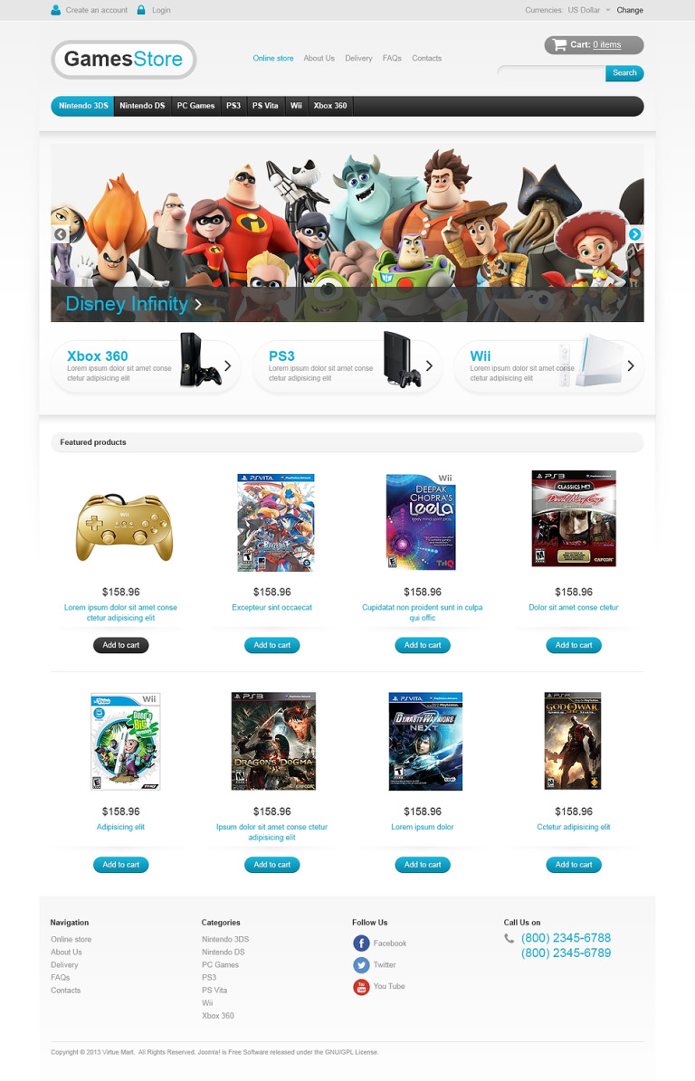 Best Games on the Net VirtueMart Template New Screenshots BIG