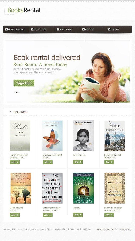 Book Store Facebook HTML CMS Template New Screenshots BIG