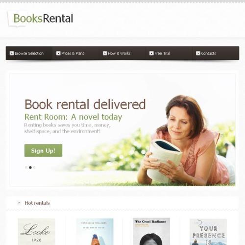 Book Rental - Facebook HTML CMS Template