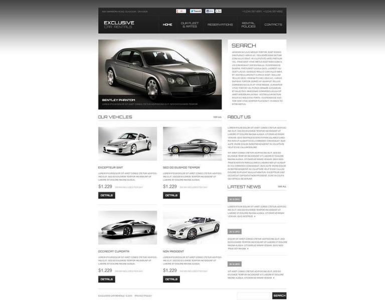 Car Rental Flash CMS Template New Screenshots BIG