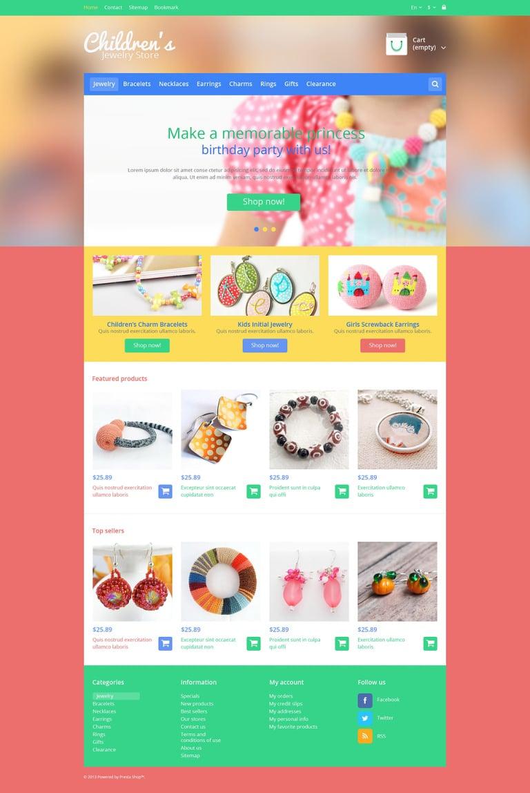 Children's Jewelry Store PrestaShop Theme New Screenshots BIG