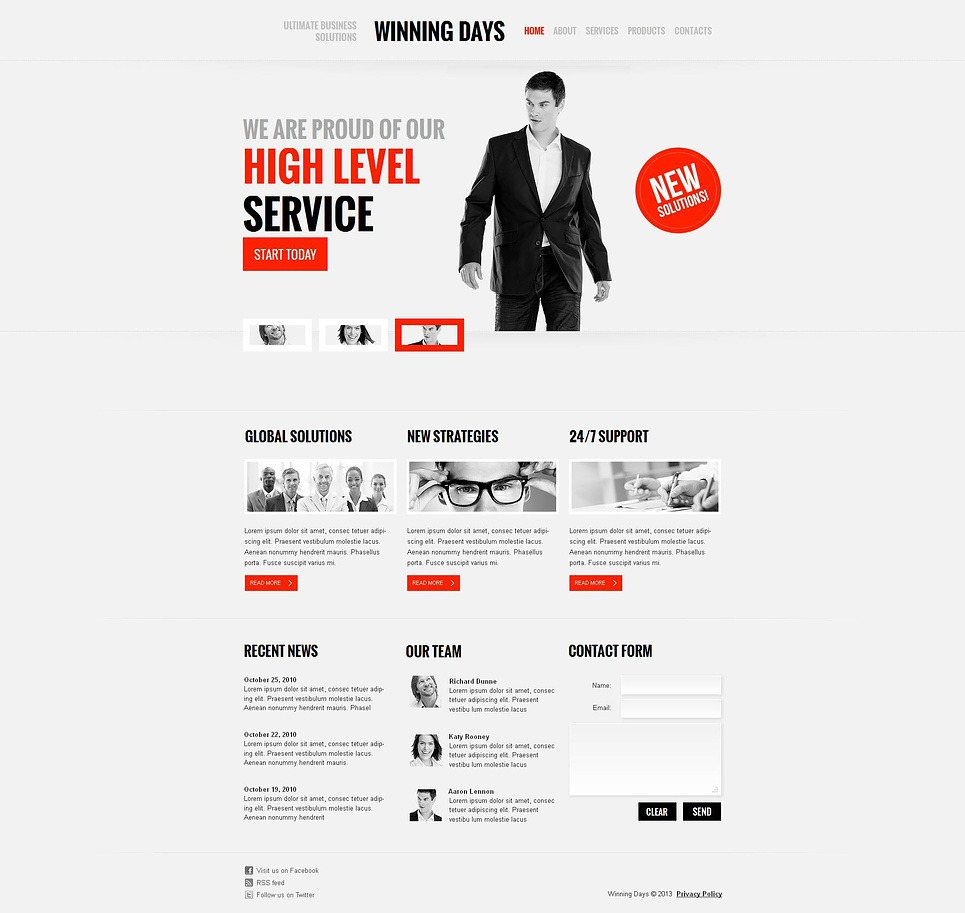 Consulting Moto CMS HTML Template New Screenshots BIG