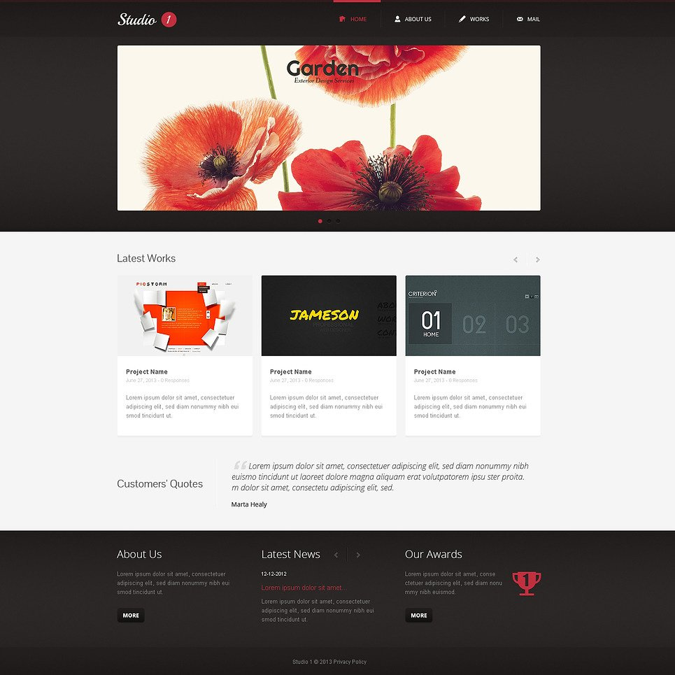 Design Studio Responsive Website Template New Screenshots BIG