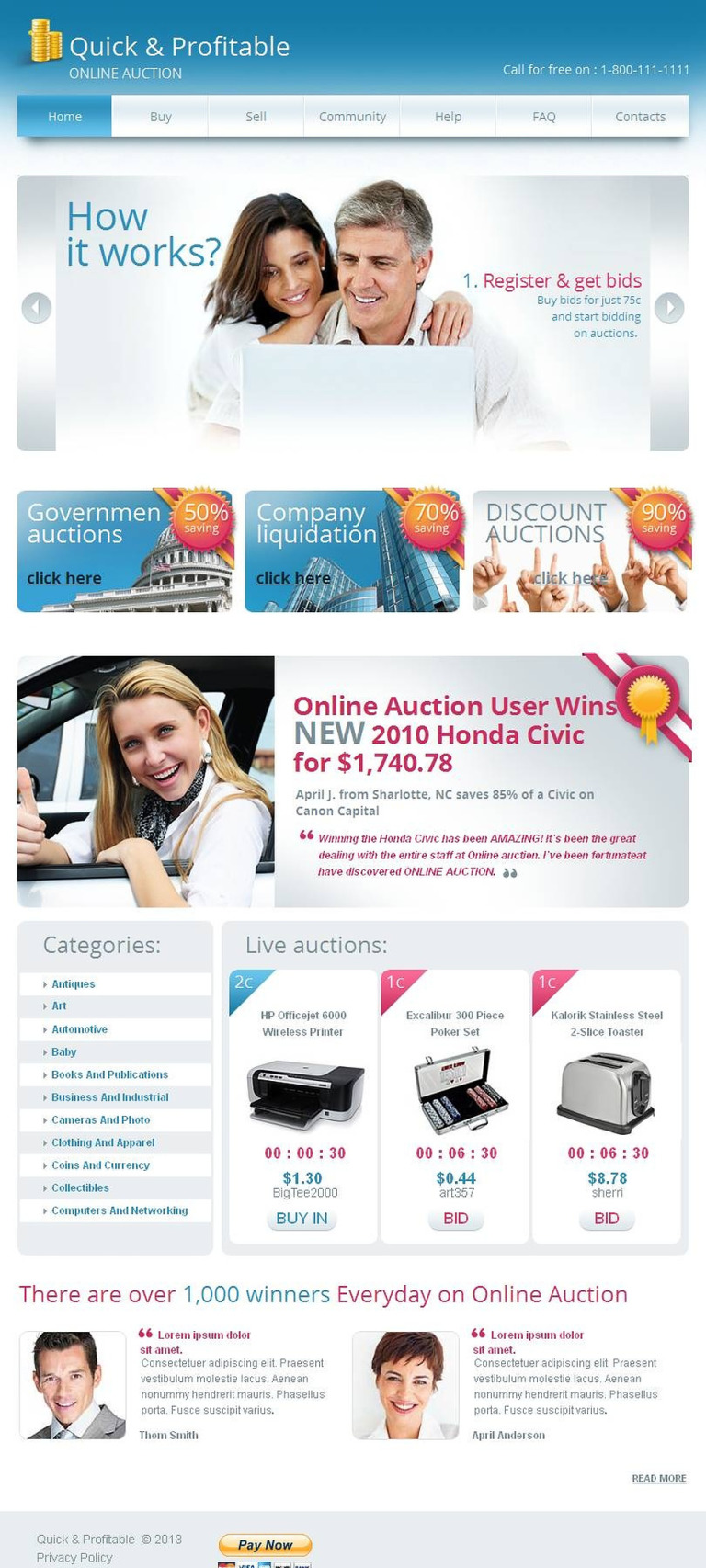 Electronics Store Facebook HTML CMS Template New Screenshots BIG