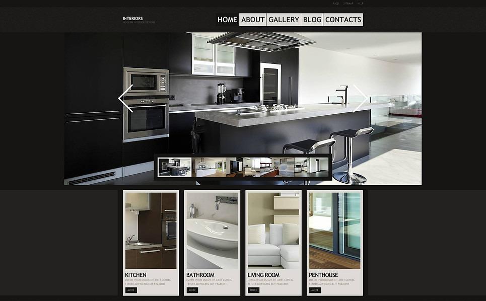 Flash CMS шаблоны №45978 на тему дизайн интерьеров New Screenshots BIG
