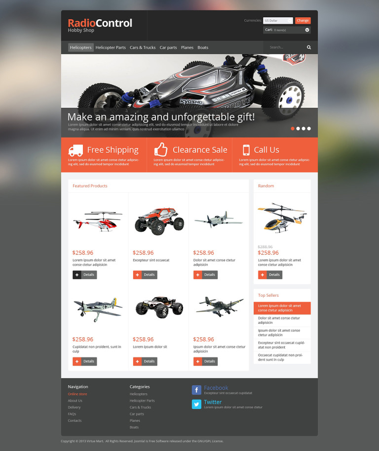 Hobby Shop VirtueMart Template New Screenshots BIG