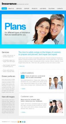 insurance html templates  Insurance Facebook HTML CMS Templates