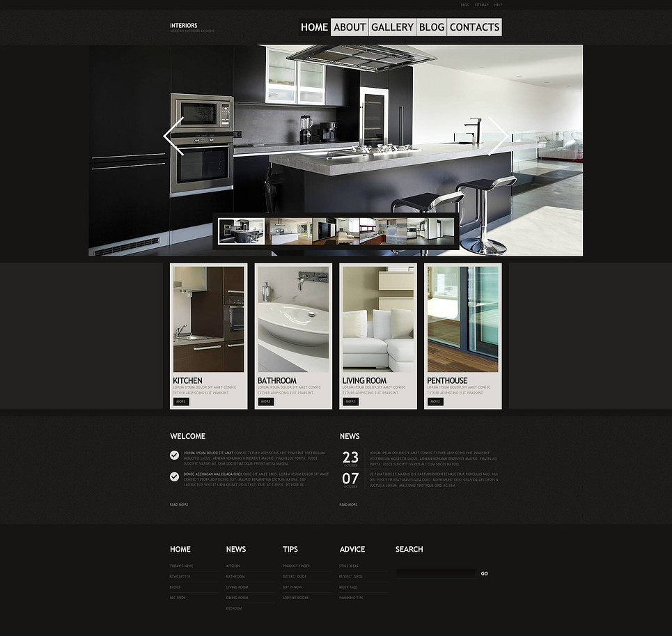 Architecture Flash CMS Themes