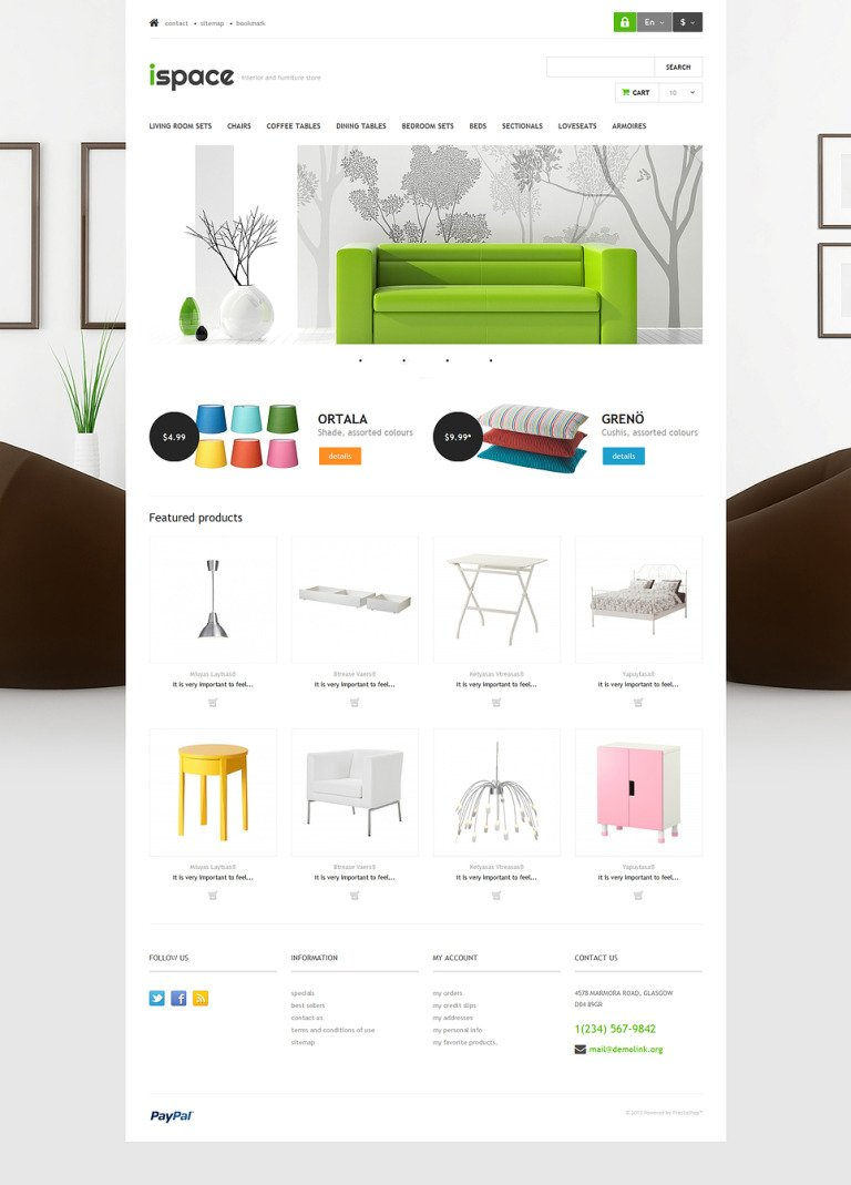 Ispace PrestaShop Theme New Screenshots BIG