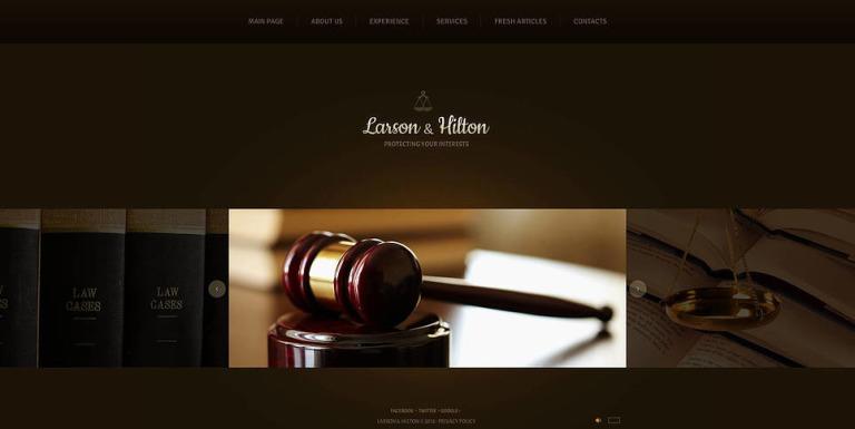 Law Firm Flash CMS Template New Screenshots BIG