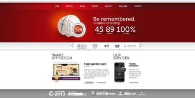 Design Studio Flash CMS šablona