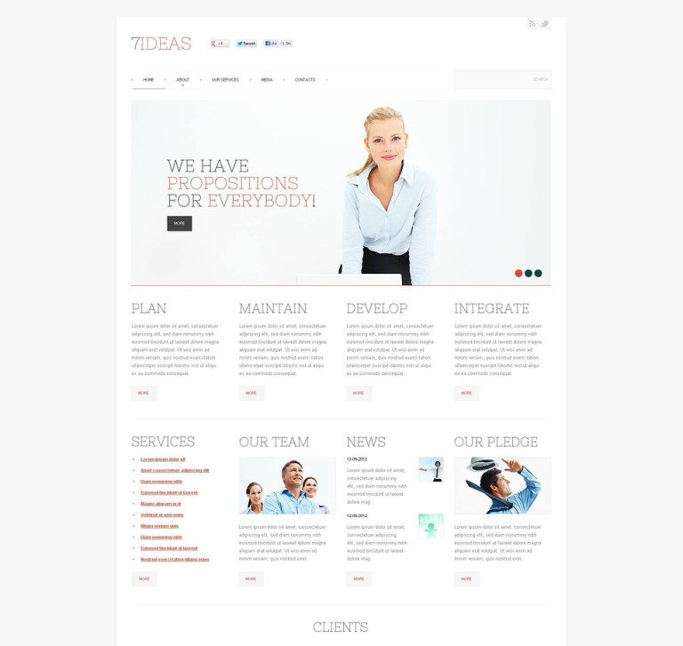 Management Company Flash CMS Template New Screenshots BIG