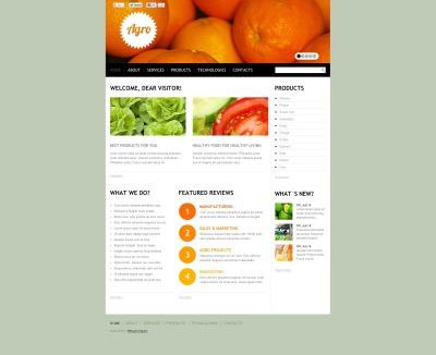 Modèle Flash CMS  pour site de fruits