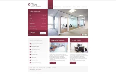 Modèle Moto CMS HTML  pour site de bureaux