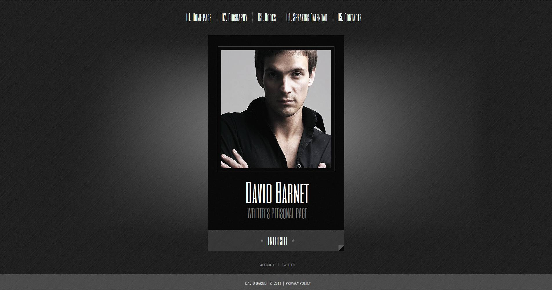 Personal Page Moto CMS HTML Template #45903