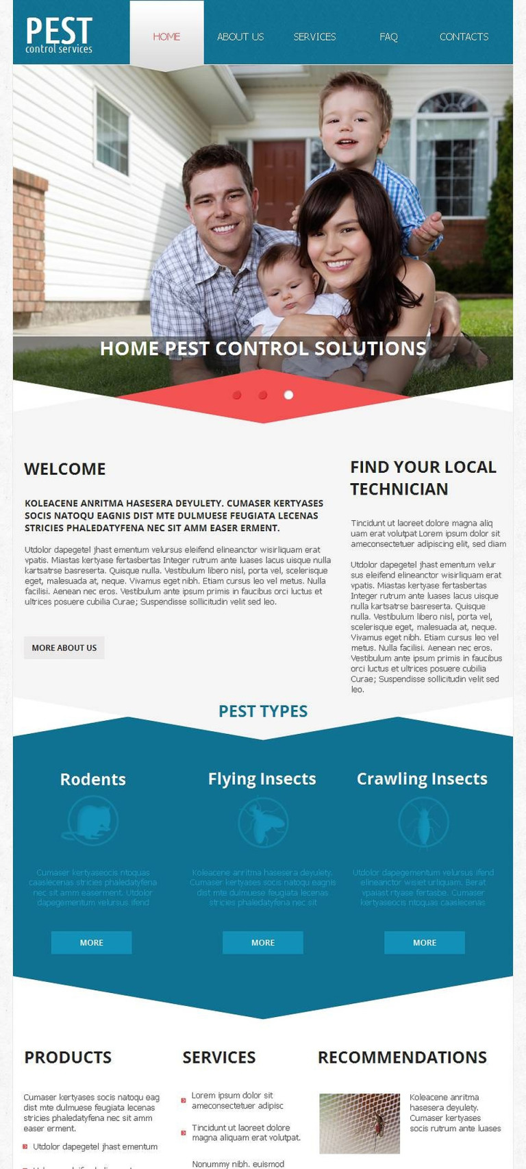 Pest Control Facebook HTML CMS Template New Screenshots BIG