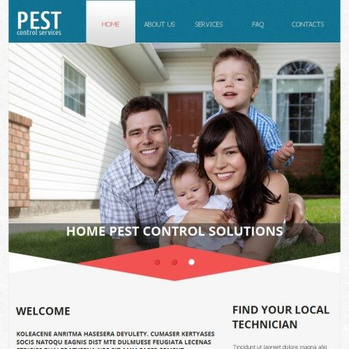 Pest Control Services - Facebook HTML CMS Template