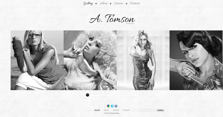 Photographer Portfolio Flash CMS Template New Screenshots BIG