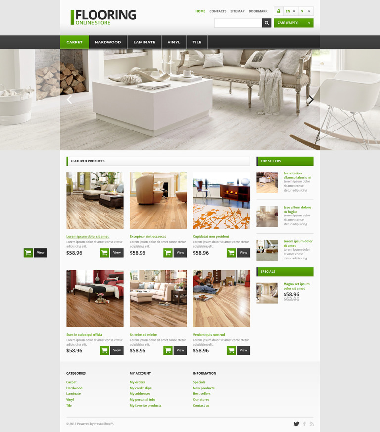 Responsive Flooring Store PrestaShop Theme New Screenshots BIG