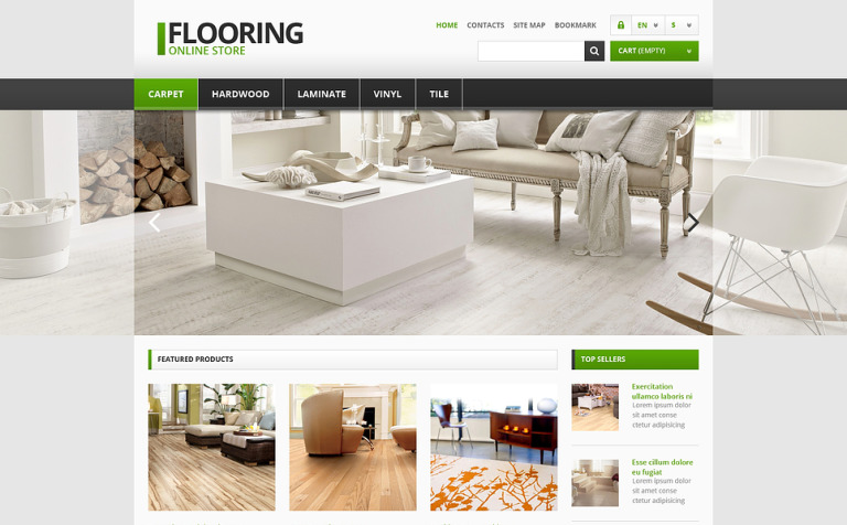 Responsive Flooring Store PrestaShop Theme