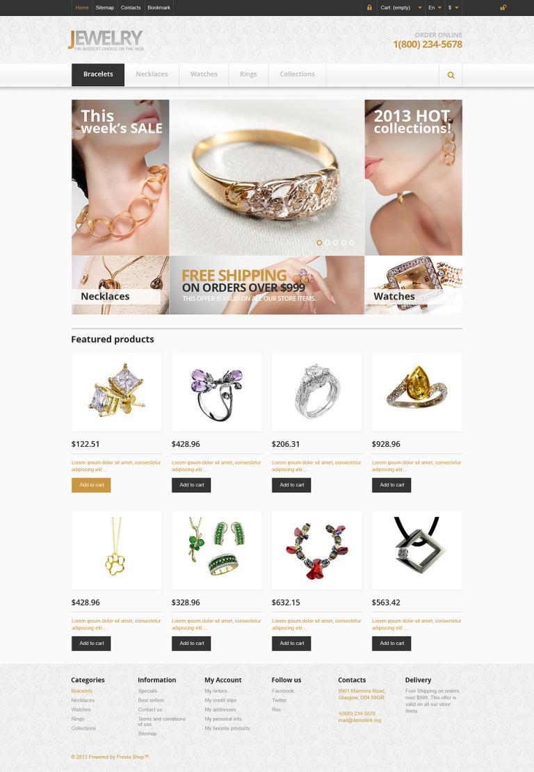 Responsive Jewelry Store PrestaShop Theme New Screenshots BIG