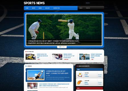 Sports News Responsive