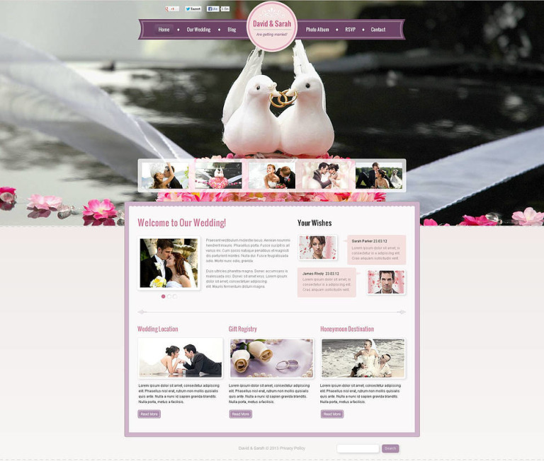 Wedding Album Flash CMS Template New Screenshots BIG