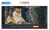 """WildLife - Wild Life Multipage Creative HTML"" modèle web adaptatif"