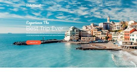 Travel Website Design - BoboTravel - image