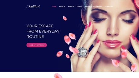 Nail Salon Website Design - Naillasi - image
