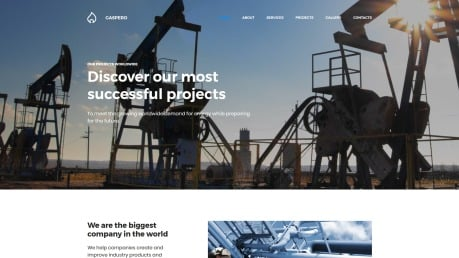 Oil Company Website Design - Gaspero - image
