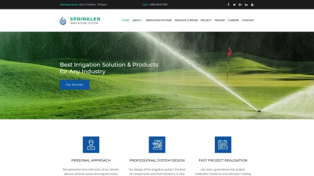 Irrigation Website Design for Sprinkler and Water Systems - image