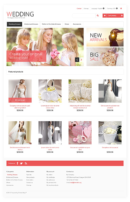 ADOBE Photoshop Template 46009 Home Page Screenshot