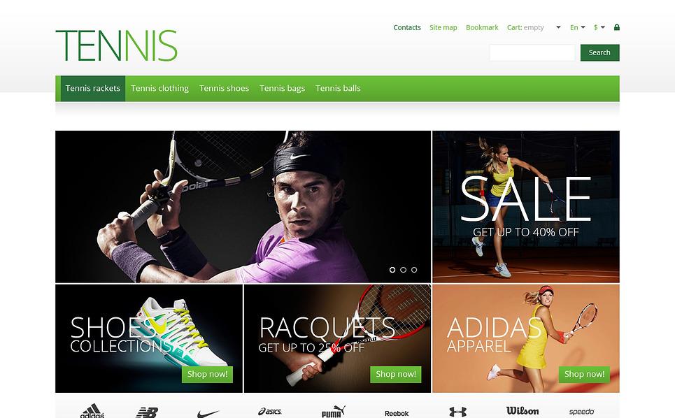 Reszponzív Tenisz PrestaShop sablon New Screenshots BIG