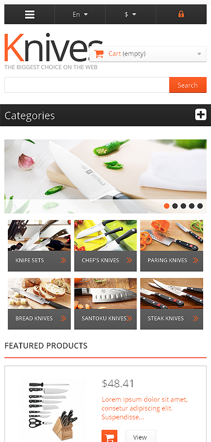 ADOBE Photoshop Template 46012 Home Page Screenshot