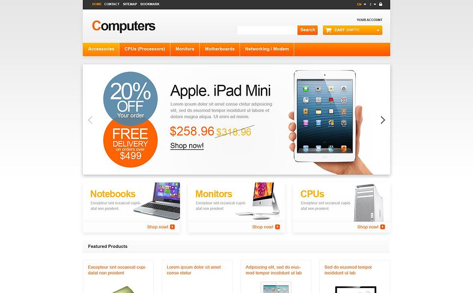 """PrestaShop Theme namens """"Responsive Computer Shop"""" New Screenshots BIG"""