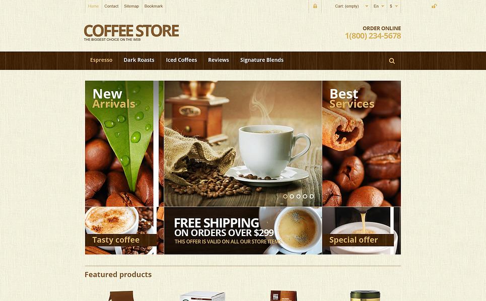 """""""Magasin de café responsive"""" thème PrestaShop adaptatif New Screenshots BIG"""
