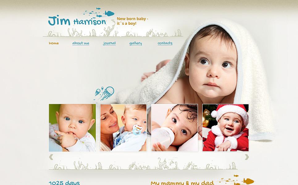 Responsive Website Vorlage für Neugeborenes  New Screenshots BIG