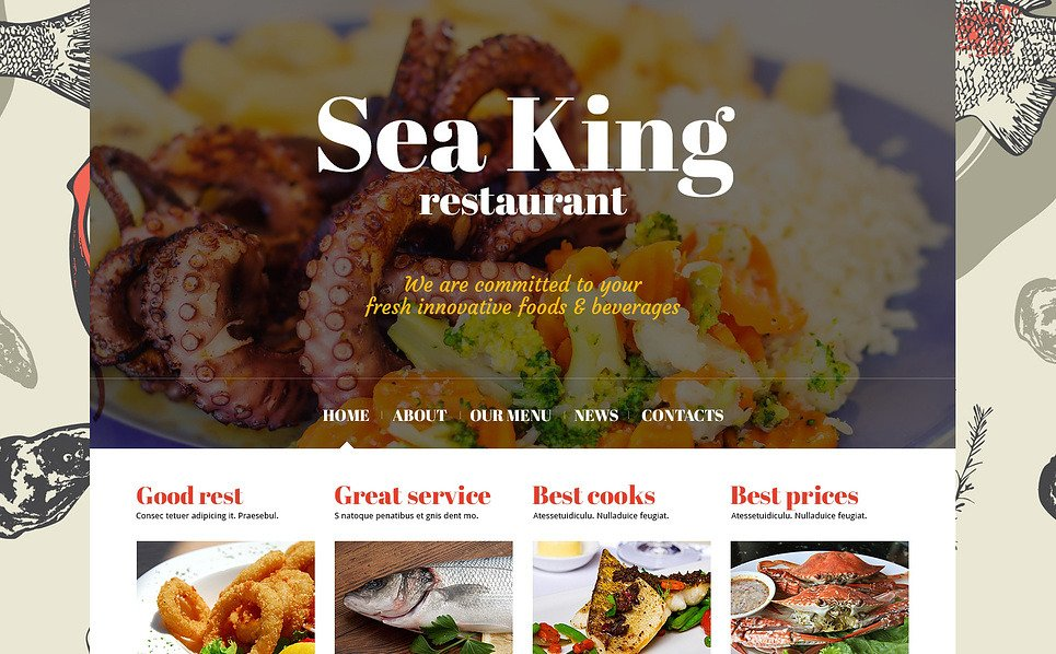 Responsive Joomla Template over Visrestaurant New Screenshots BIG