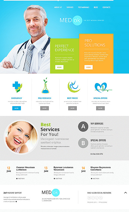 Joomla Theme/Template 46035 Main Page Screenshot