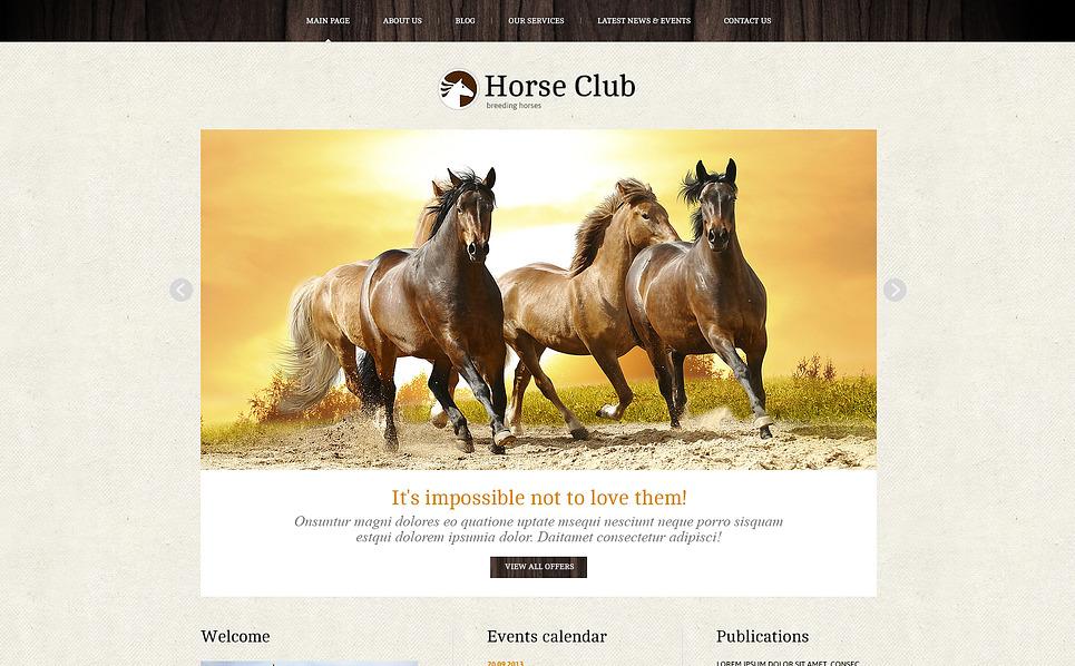 Адаптивний Joomla шаблон на тему коні New Screenshots BIG