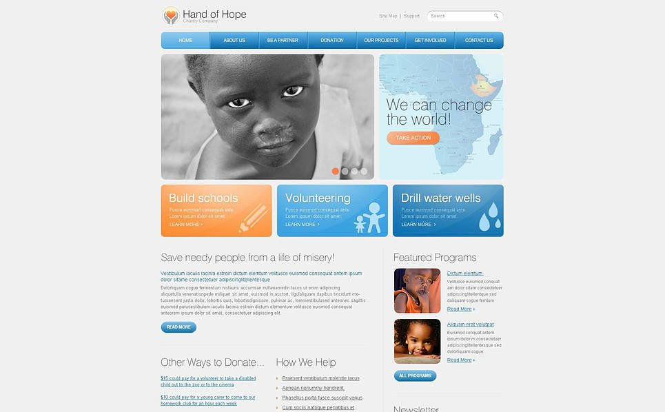 Flash CMS Vorlage für Kindercharity  New Screenshots BIG