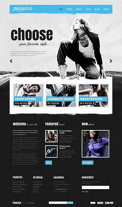 ADOBE Photoshop Template 46053 Home Page Screenshot